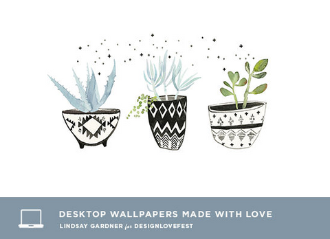 Desktop Background by Lindsay Gardner for DESIGNLOVEFEST