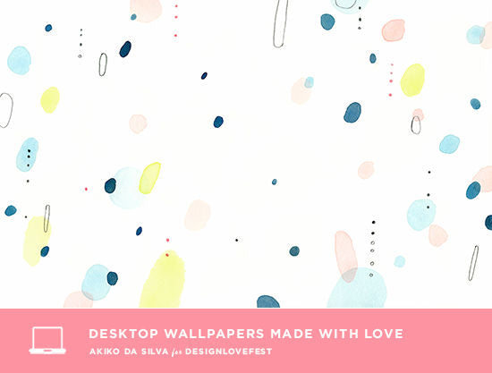 Desktop Wallpaper made with Love by Akiko Da Silva for DESIGNLOVEFEST