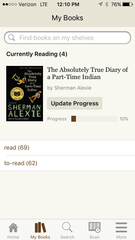 Goodreads App - UPstudio