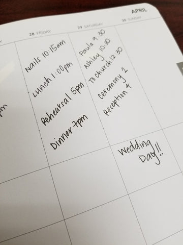 Guest Post - Wedding Planning with the UPstudio Planner