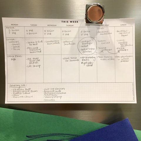 How MB Uses her UPstudio Weekly Planning Notepad