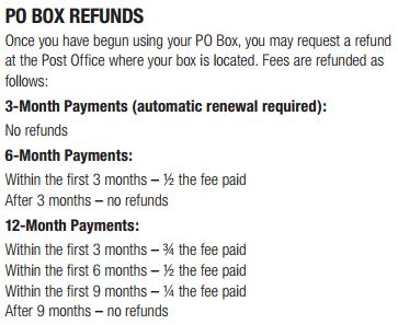 PO Box Refund Policy UPstudio
