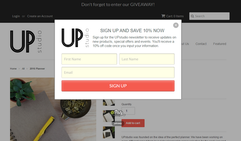 Privy Pop-up Free Shopify App UPstudio