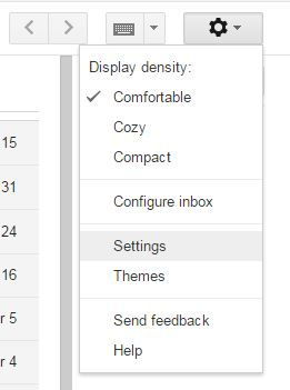 Settings Screen, UPstudio, Business E-mail with Gmail
