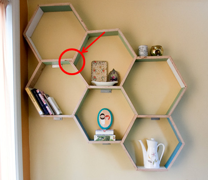 UPstudio DIY Honeycomb Shelf inspired by Design Sponge