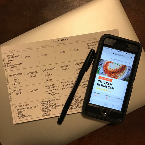 UPstudio - Weekly Planning Notepad - Meal Planning