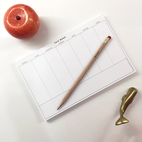 UPstudio - Weekly Planning Notepad