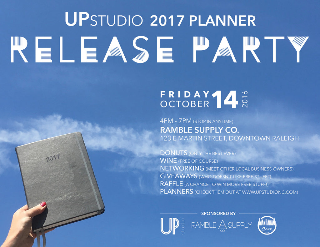 UPstudio 2017 Planner Release Party