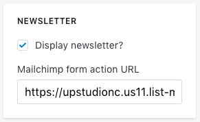 UPstudio MailChimp Form Action URL HTTPS