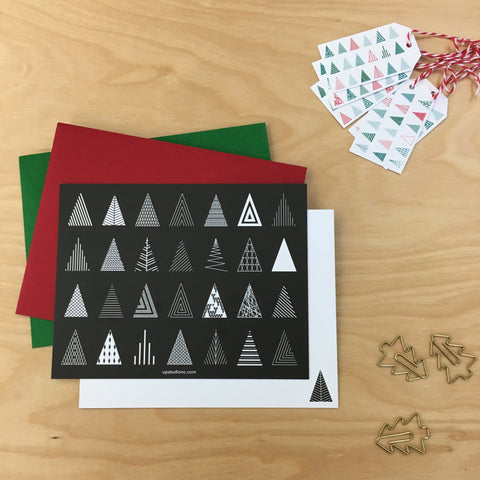 UPstudio Christmas Trees Card