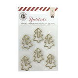 Gold Christmas Tree Paper Clips