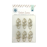 Gold Feather Paper Clips