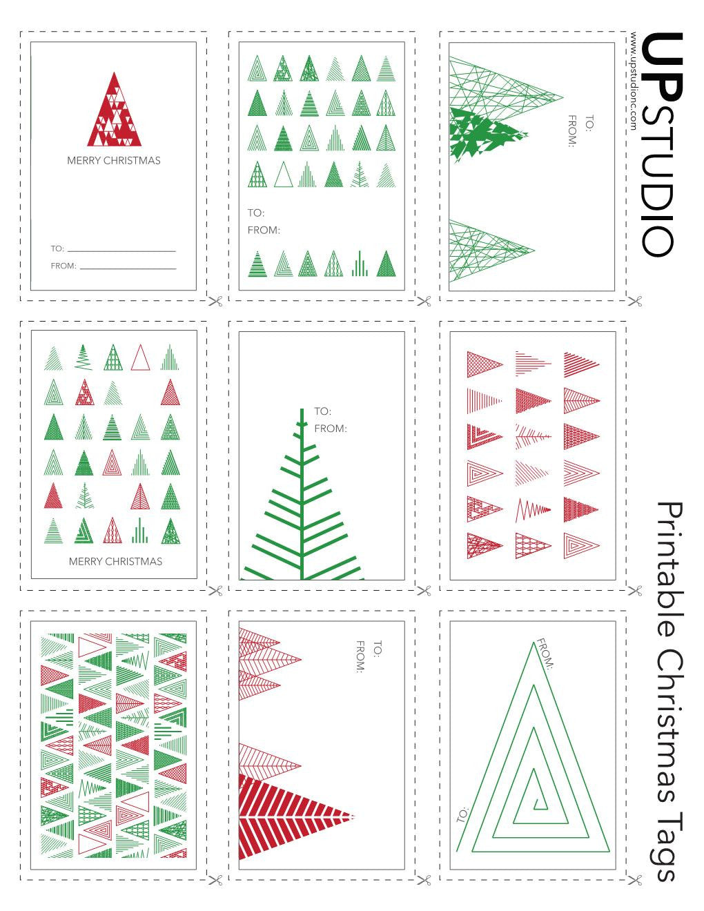 picture relating to Printable Tags Free referred to as UPstudio - Printable Xmas Tags Absolutely free Down load