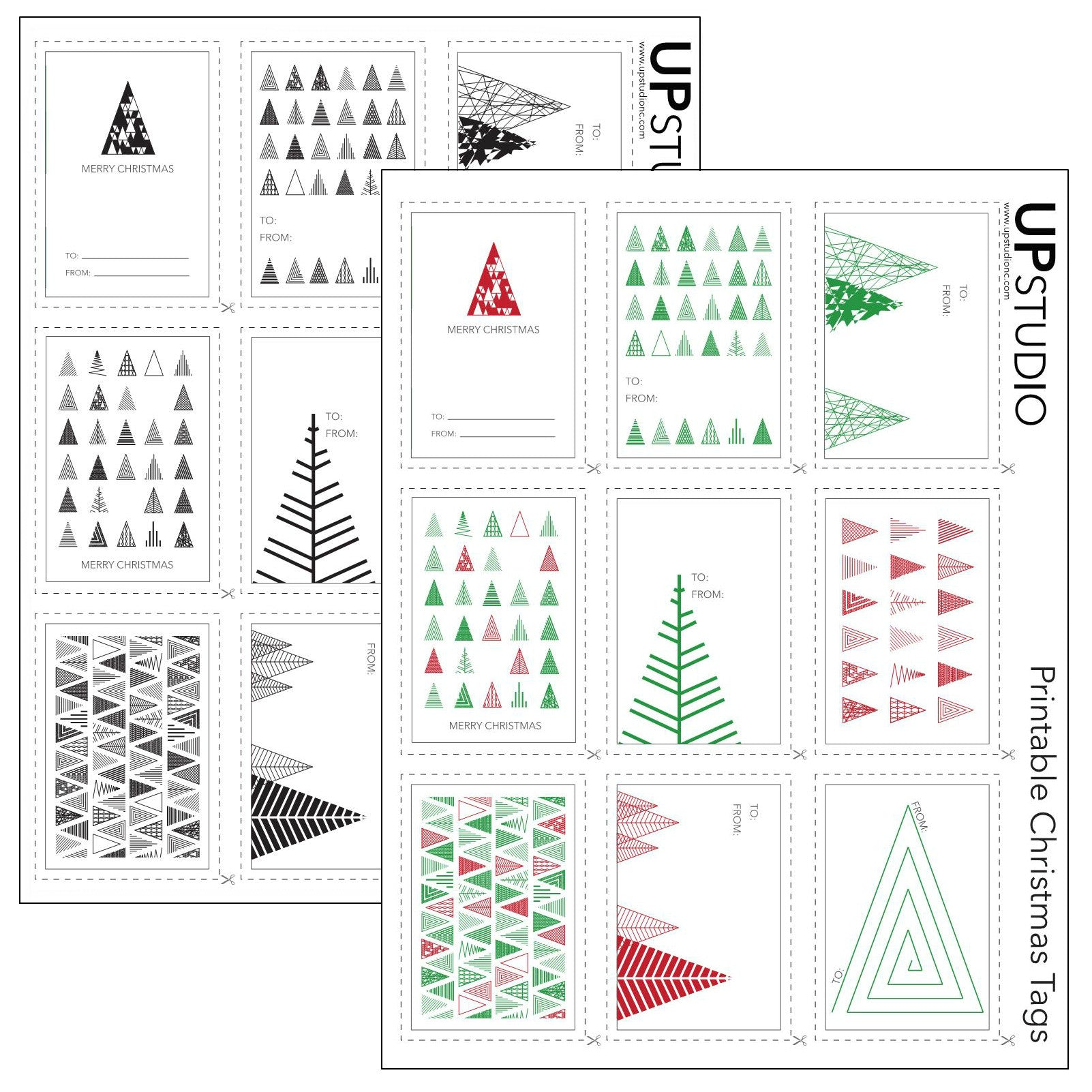 picture relating to Christmas Tags Printable named UPstudio - Printable Xmas Tags Cost-free Down load