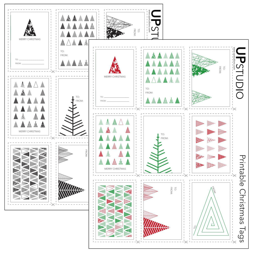 graphic relating to Free Christmas Tag Printable known as UPstudio - Printable Xmas Tags Cost-free Obtain