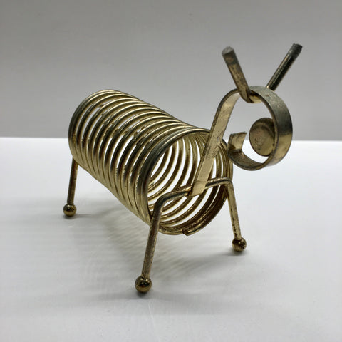 Vintage: Brass Coil Animal
