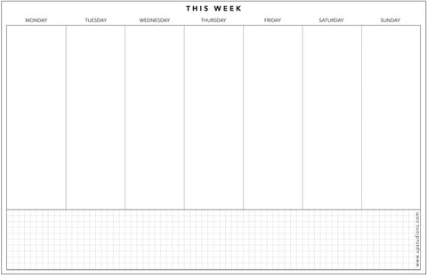 graphic about Week Planner Sheet called UPstudio - Weekly Designing Notepad