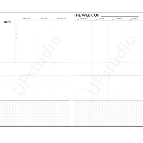 2016 UPstudio Planner Free Weekly Layout Download