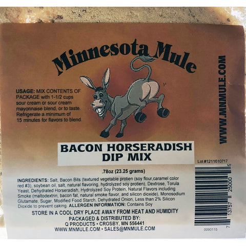 Bacon Horseradish Dip Mix Minnesota Mule