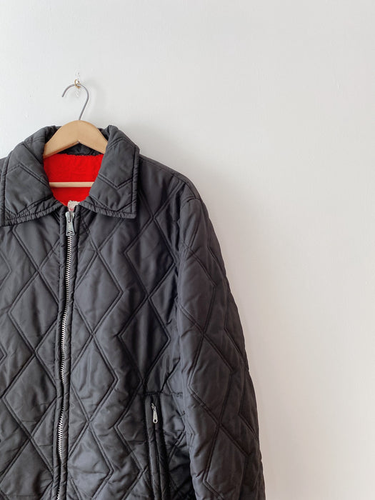 Black Quilted Puffer Jacket | L