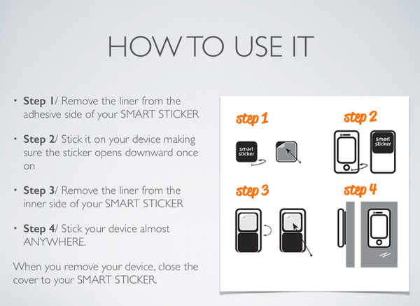 Smart Sticker Holds Phones, Tables, GPS and more - Red Lock