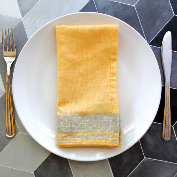 Colored Metallic Napkins