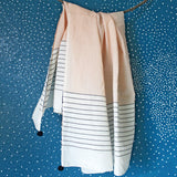 PEACH STRIPE SCARF