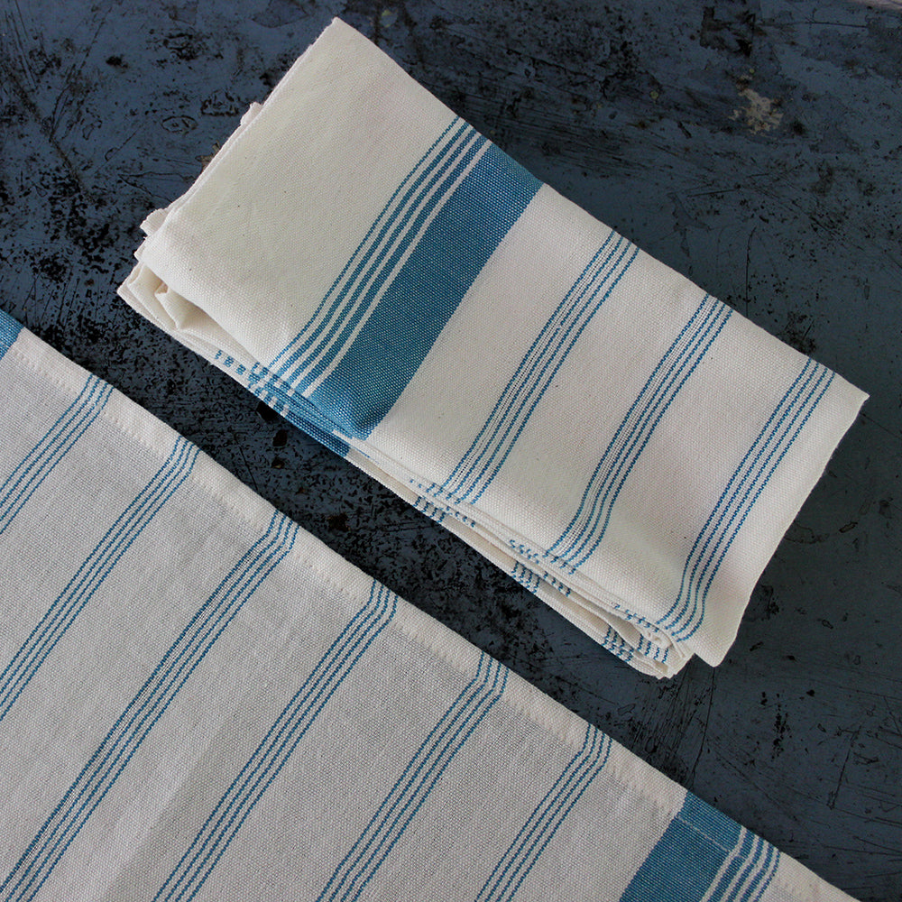 Unbleached Candy Stripe Napkins