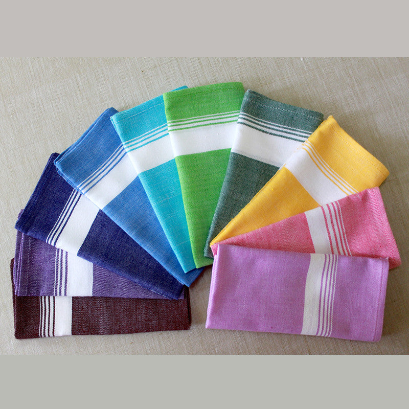 Set of 10 Color Napkins - Kara Weaves  - 1