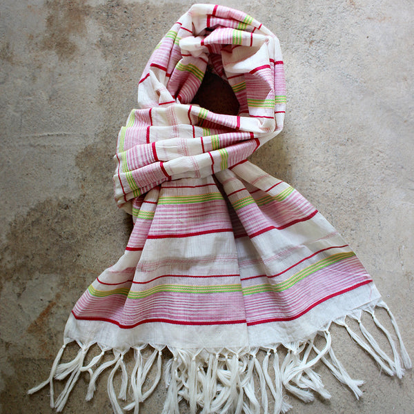 Multicolor DipDye Scarf - Kara Weaves  - 1