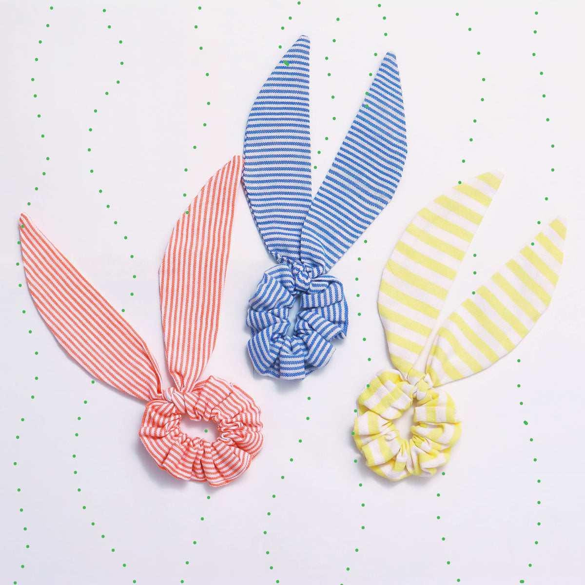 Set of 3 ribbon scrunchies