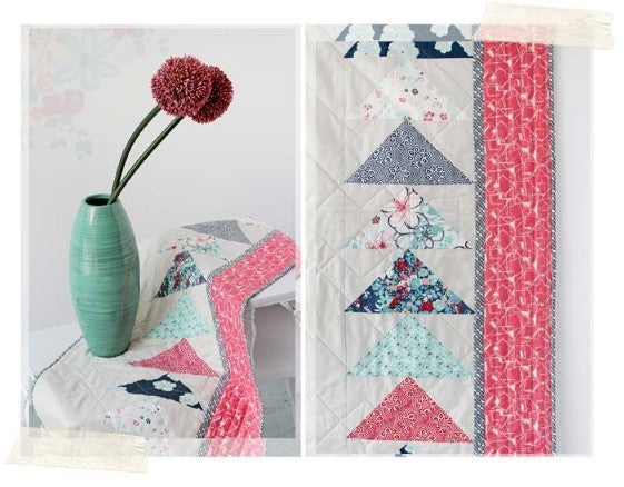 Free Table Runner Sewing Pattern using NouvElle Collection