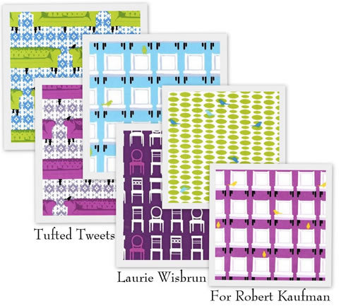 Tufted Tweets by Laurie Wishbrun for Robert Kaufman Fabrics