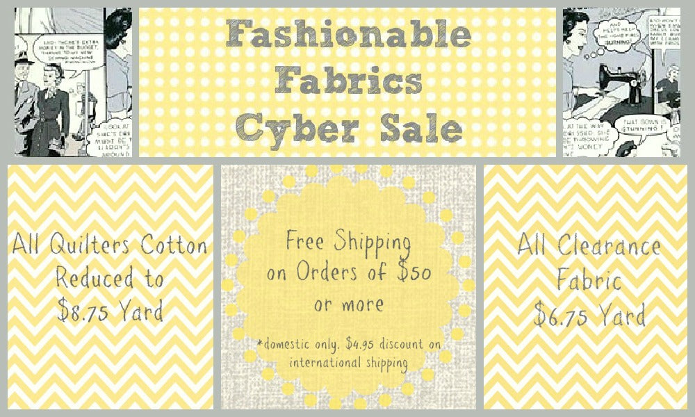 Fashionable Fabrics' Cyber Sale