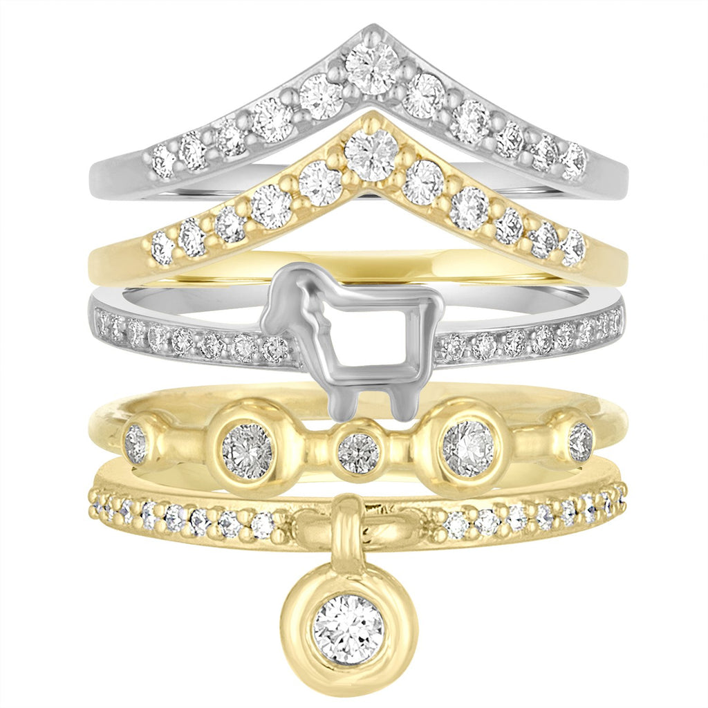 18K Yellow Gold 'Queen of Bounce' Charm Ring