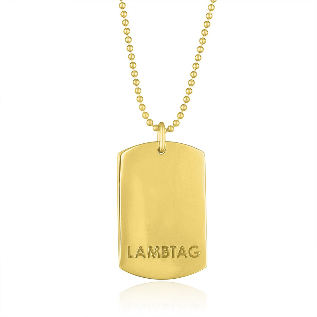 "Large 18K Yellow Gold ""I Love Ewe"" Lambtag"