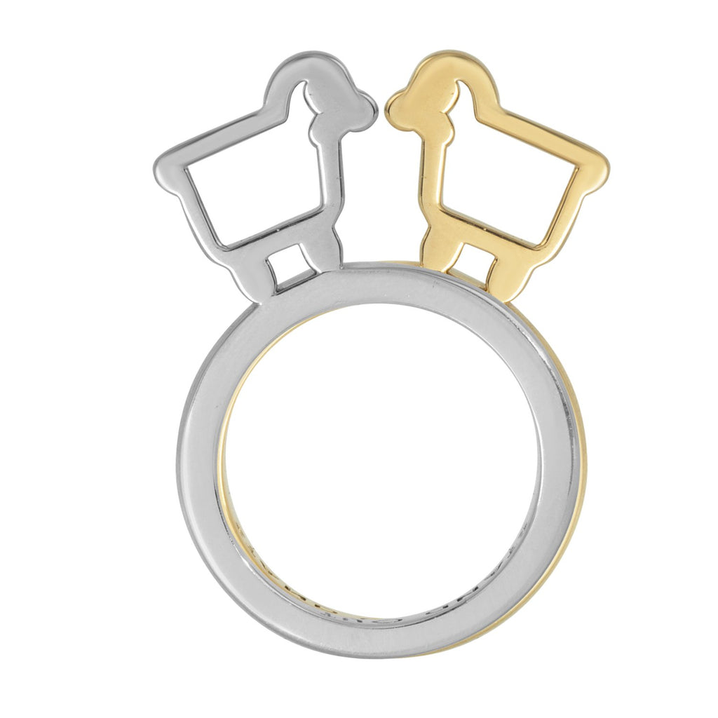 "18K Yellow Gold ""Stand Out"" Statement Ring"