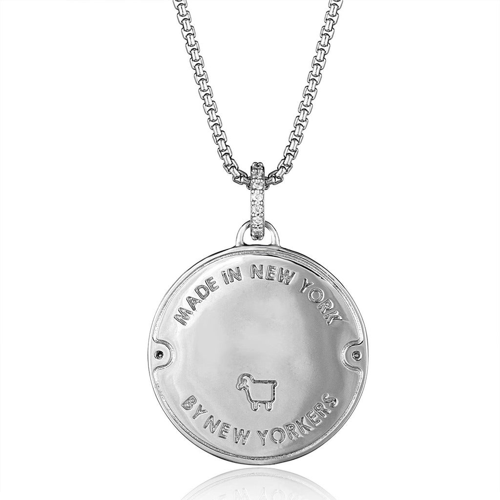 Sterling Silver Manhole Statement Pendant