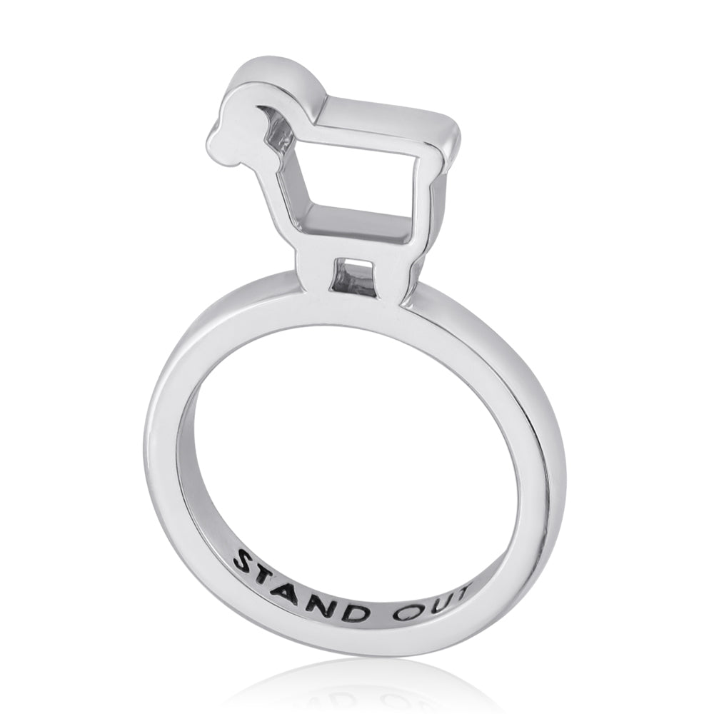 "Sterling Silver ""Stand Out"" Statement Ring"