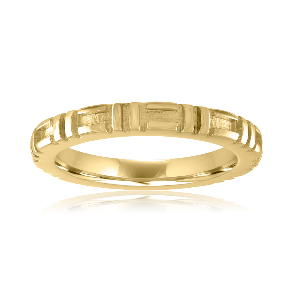 18K Yellow Gold City Stacking Band