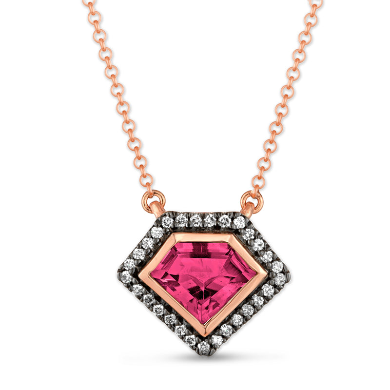 14K Rose Gold Diamond Power Pendant