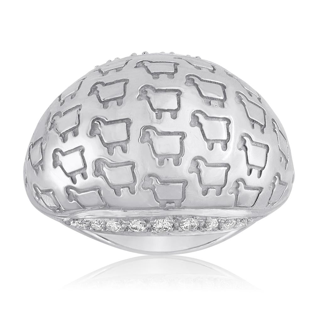 "Sterling Silver ""Be Herd"" Bombay Ring"