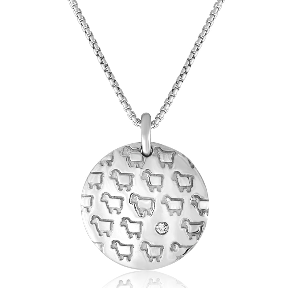 "Sterling Silver ""Rock Your Flock"" Pendant"