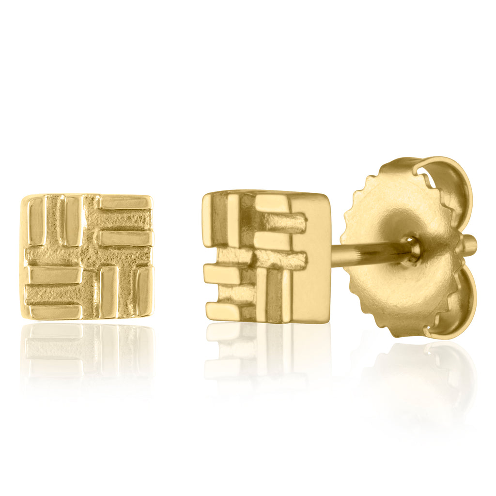 *18K Yellow Gold Stud in the City Earrings