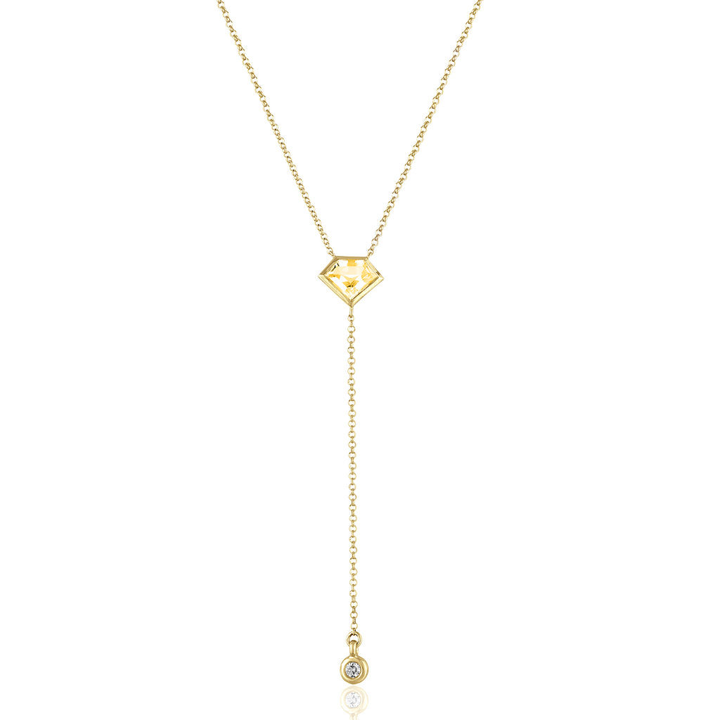18K Yellow Gold Lois Lariat Necklace