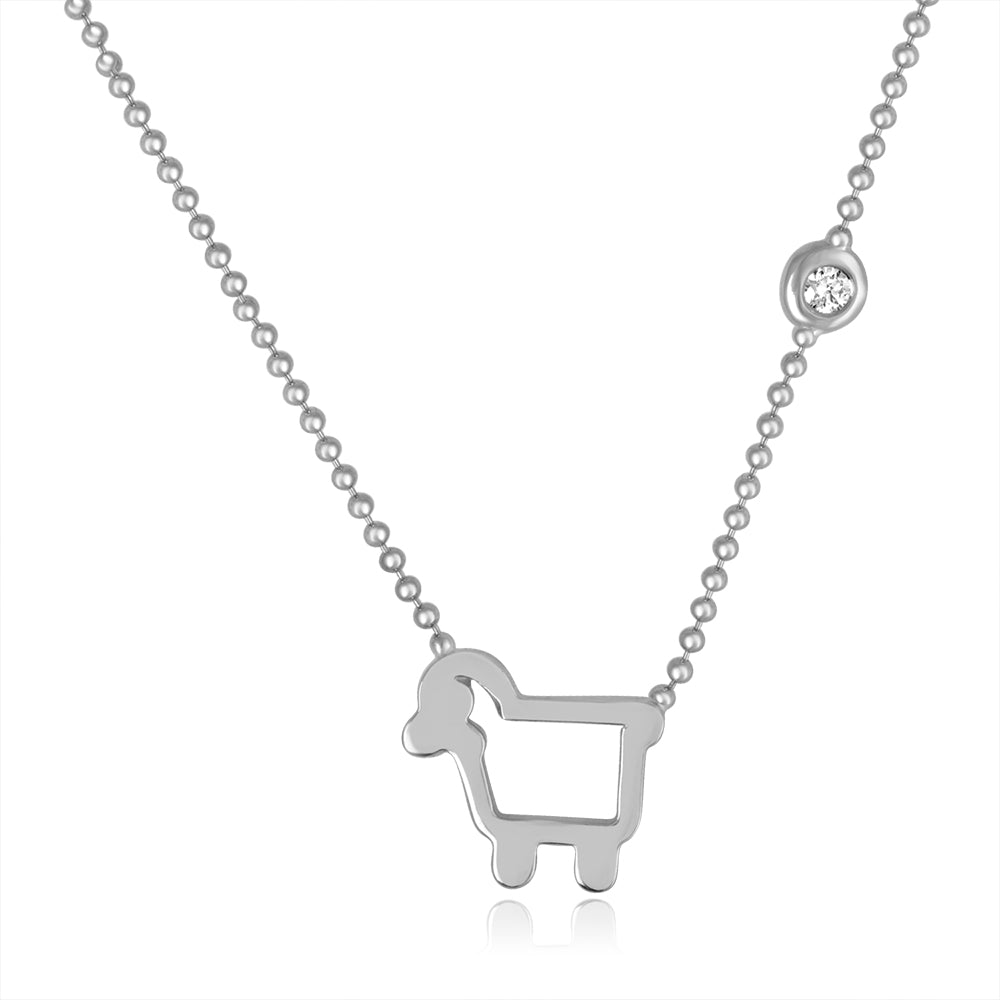 Sterling Silver Small Signature Necklace