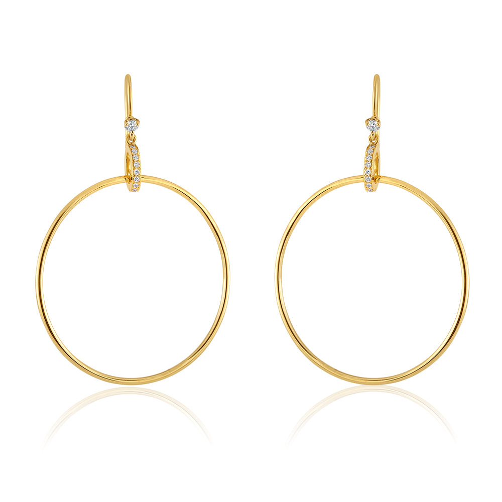 18K Yellow Gold Girlfriend Hoops