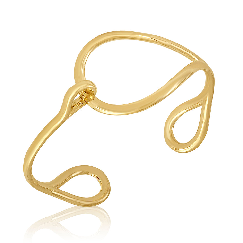 18K Yellow Gold Teardrop Glamour Cuff