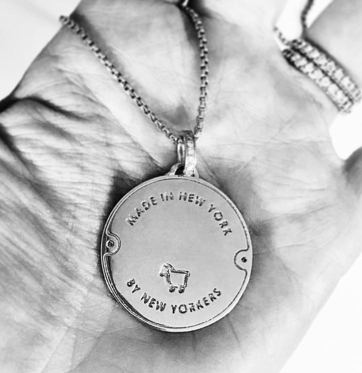 *Sterling Silver Manhole Statement Pendant