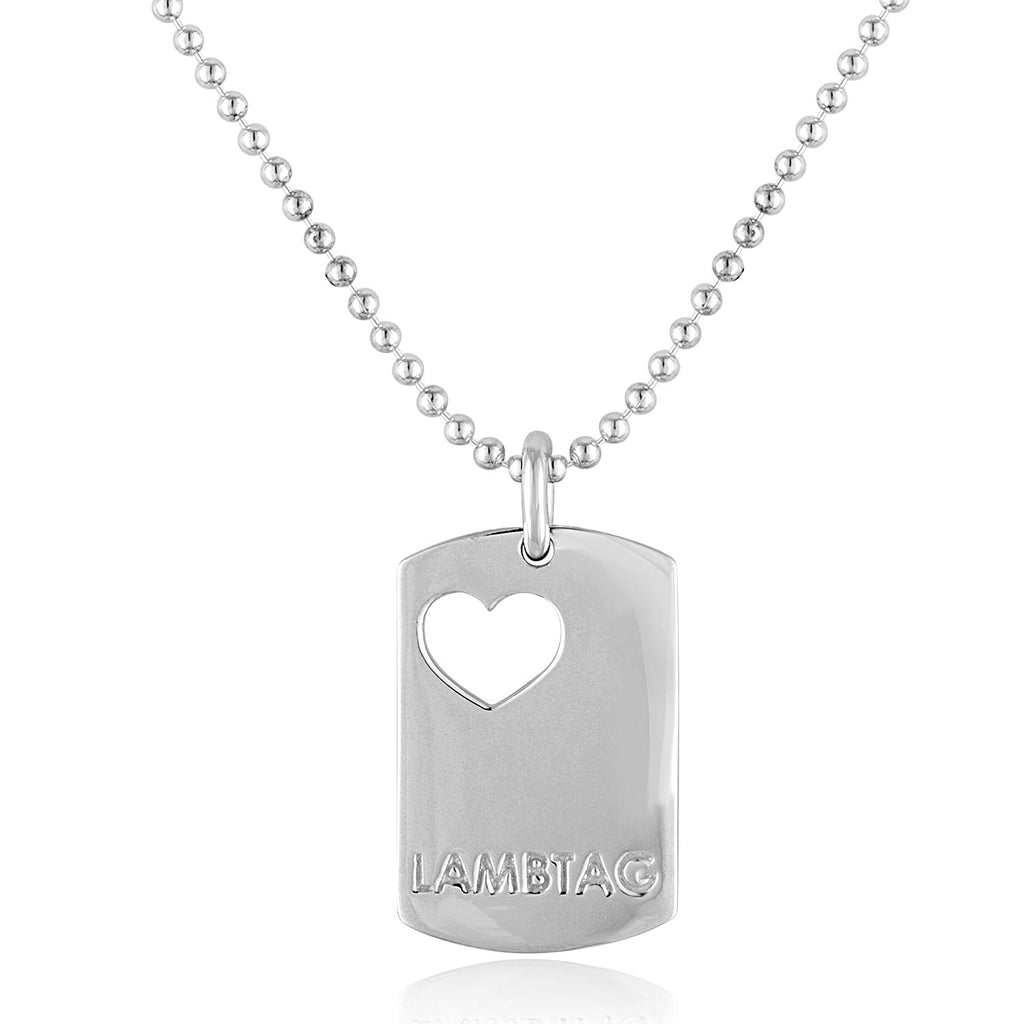 "Small Sterling Silver ""I Love Ewe"" Lambtag"